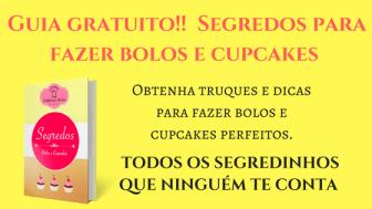 Guia gratuito Segredos para fazer bolos e cupcakes 300x169 - Bolo de cenoura