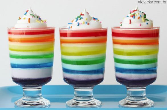 gelatina colorida 14 1 - Gelatina em camada colorida...
