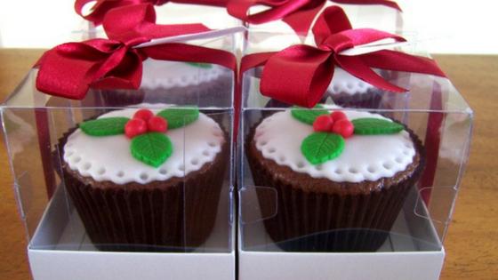 Cupcake de natal para presente