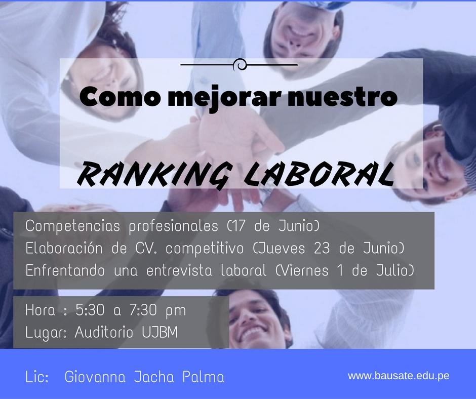 Mejora el Ranking Laboral