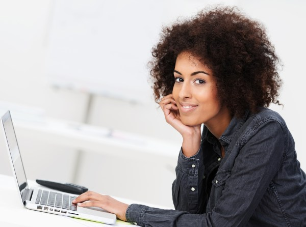 Friendly African American Businesswoman