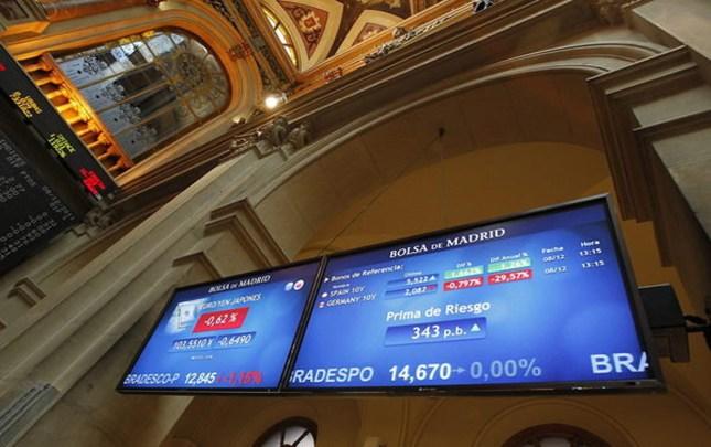La Bolsa de Madrid baja 1,05% al cierre