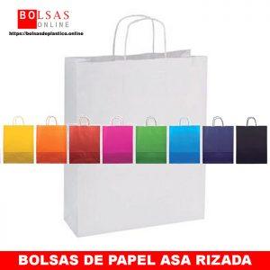 9767d4192 Bolsas de papel de colores con asa rizada. Archivos - ✓ Bolsas Online