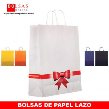Bolsas de papel decoradas lazo