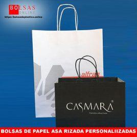 cda4a7858 ▷ Bolsas de papel con asa rizada personalizadas. | ✓ Bolsas Online