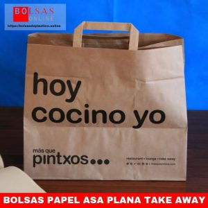 Bolsas papel asa plana take away
