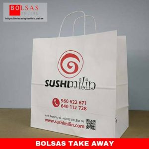 Bolsas take away.