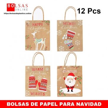 bf2de2faf SALIFTY 12PCS 23 x 18 x 10 cm Bolsas de regalo de Navidad para fiesta Favor