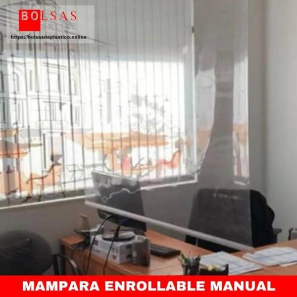 Mampara enrollable manual