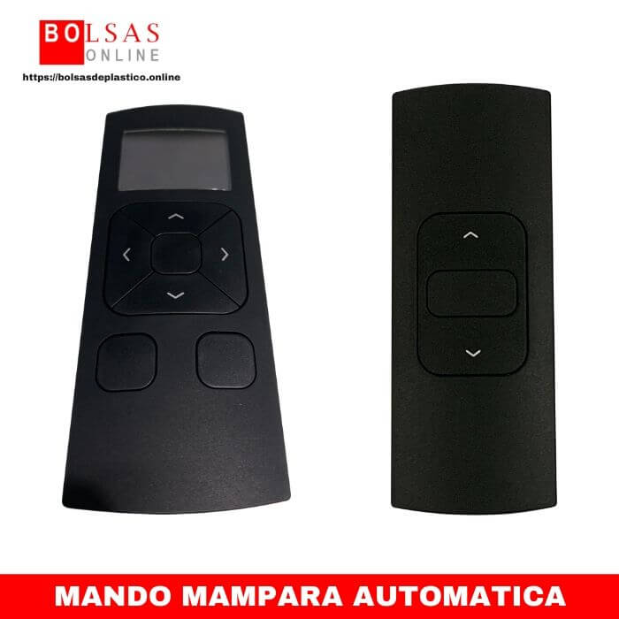 Mando mampara enrollable automatica