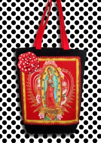 Bolsa Virgem de Guadalupe Vermelha