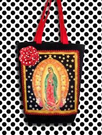 Bolsa Virgem de Guadalupe Estrelada