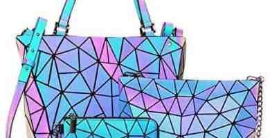 lovevook geomtrico conjunto de bolsos de mujer regalo del dia de las