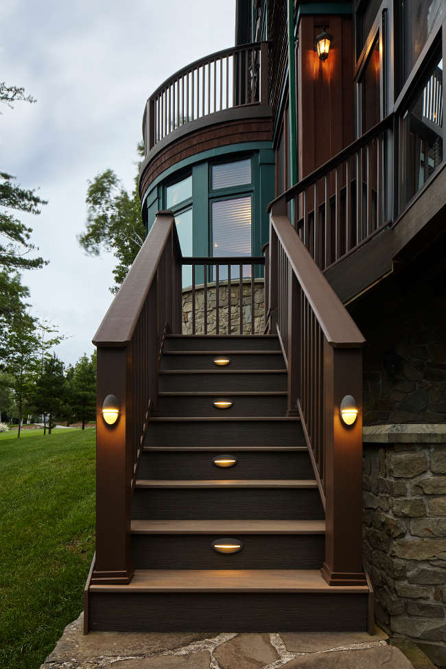 Composite Deck with Screened Porch and Stone Pillars  Archadeck Outdoor Living