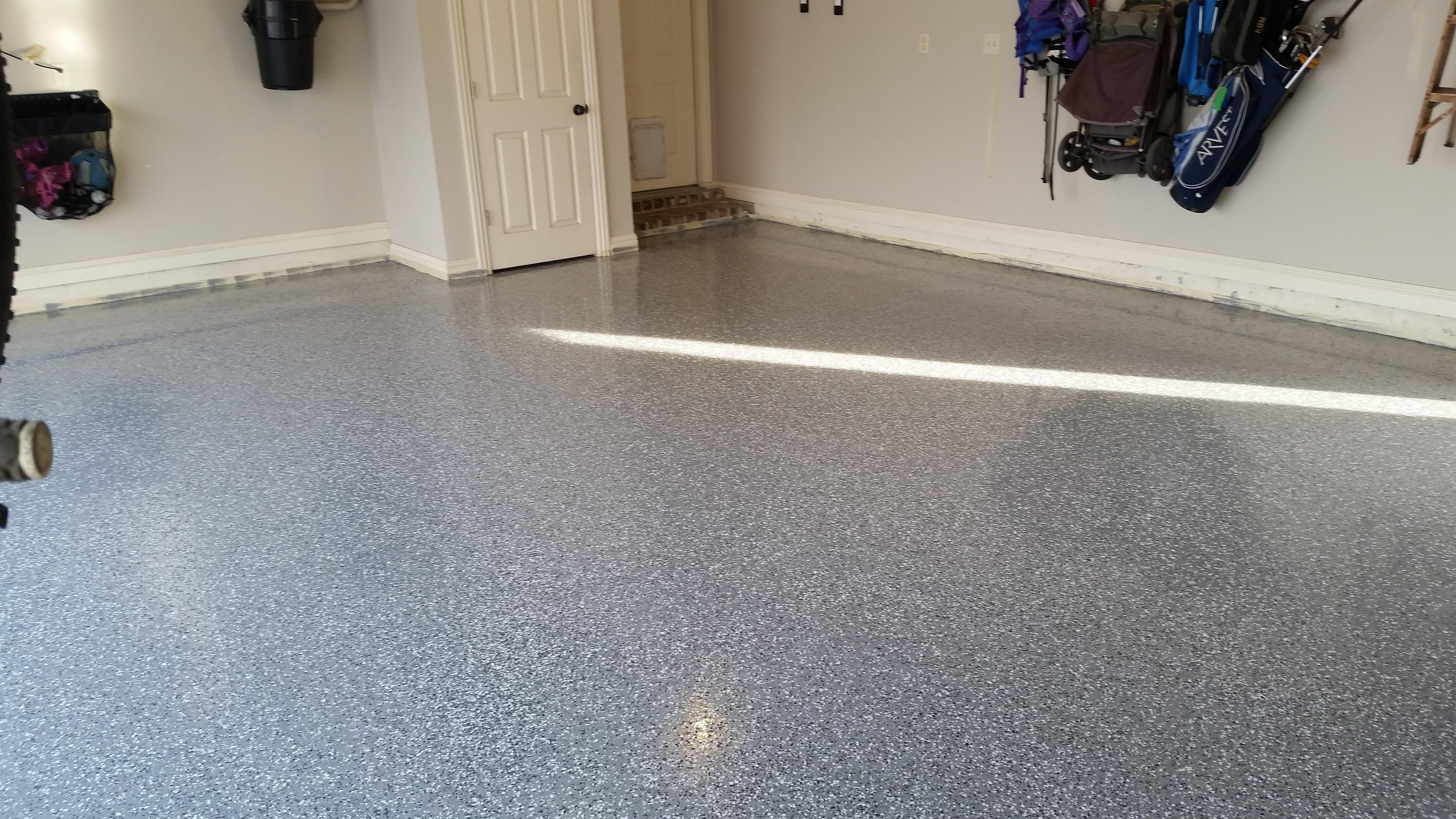 Garage and Shop Floor Coating in Springdale Rogers and