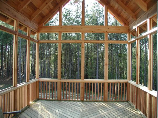 Screened Porch with Shed Roof