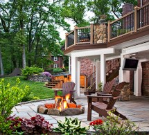 Deck and Patio with Fire Pit