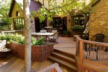Beautiful Deck with Planter Boxes