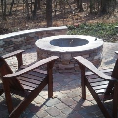 Fire Pit And Adirondack Chairs Party Chair Covers Sashes For Sale Charlotte Outdoor Pits Fireplace