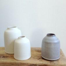 Chalk cream and Stone grey bottles by Elaine Bolt