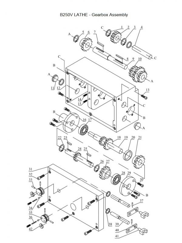 Gearbox Schematic Diagram