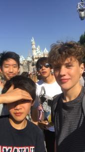 Finn and Nokia in Disneyland