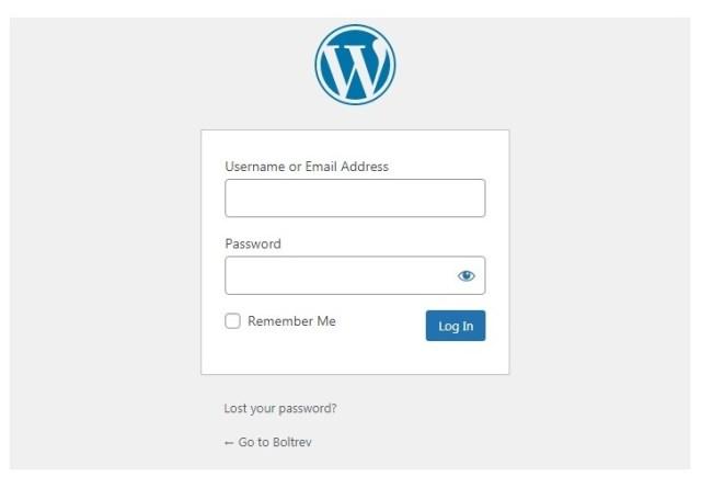 Wordpress login interface,  explanations of how to login into wordpress