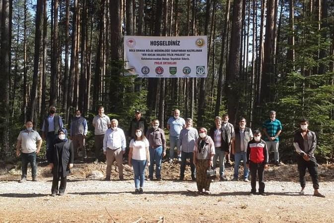 Bolu'da yardıma muhtaç aileler için odun toplandı