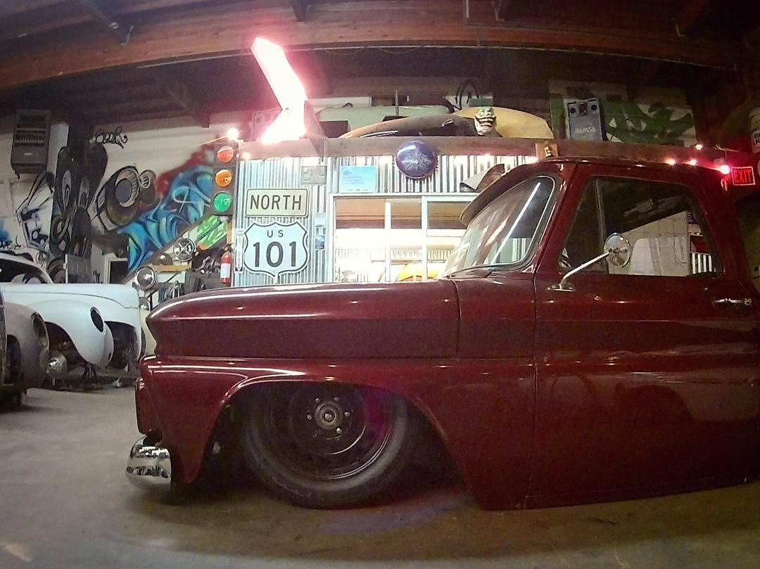 Dig this radically slammed Chevy truck at skotychops shop hellip