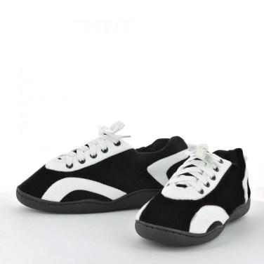 chaussons-hommes-femmes-noir-blanc-sleeperz-5017-ARTY1-900x900