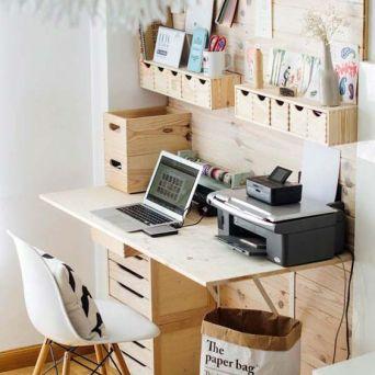 Un petit espace rien que pour moi et beaucoup de tiroirs ! ;)