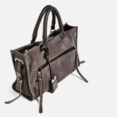 Sac city en cuir Zara 79,95 EUR