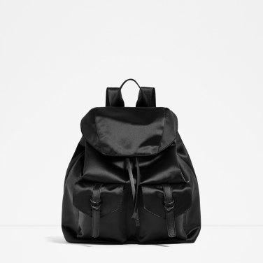 Sac à dos en satin Zara 45,95 euros
