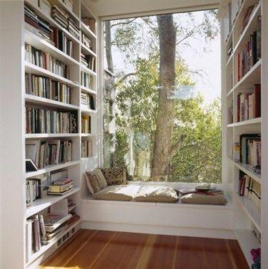 J'en rêve, un coin où méditer, lire, ranger des bouquins, admirer la nature...