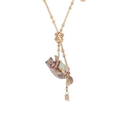 Collier chat joueur et pompoms de chaîne, Les Néréides 105 euros