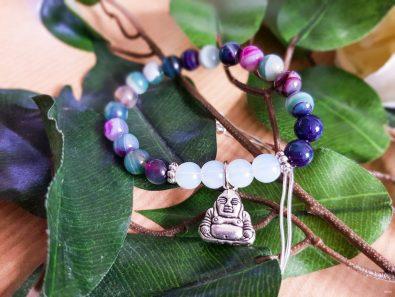 bracelet agate et Bouddha Omyoki