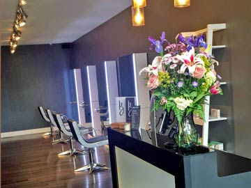 Right side chairs and bouquet