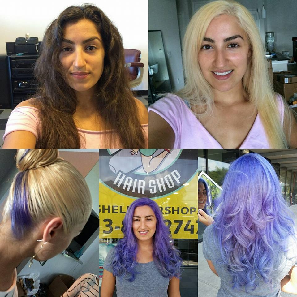 Brunette to Purple at Bombshell Hairshop