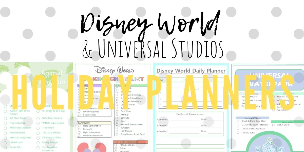 We're Going to Disney World – Planning and Organising Printables