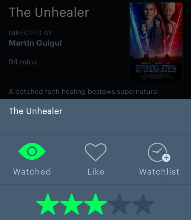 The Unhealer Letterboxd