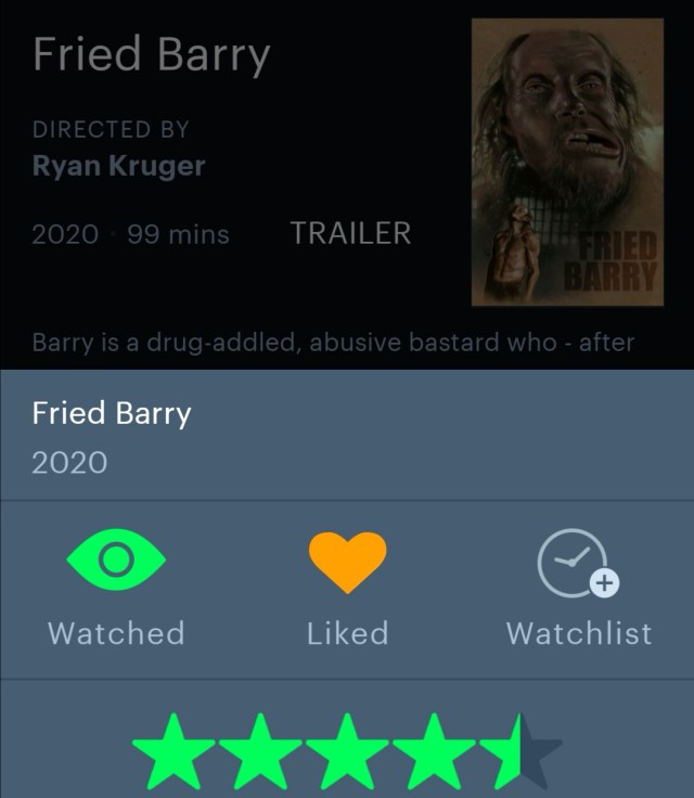 Fried Barry (2020) Letterboxd