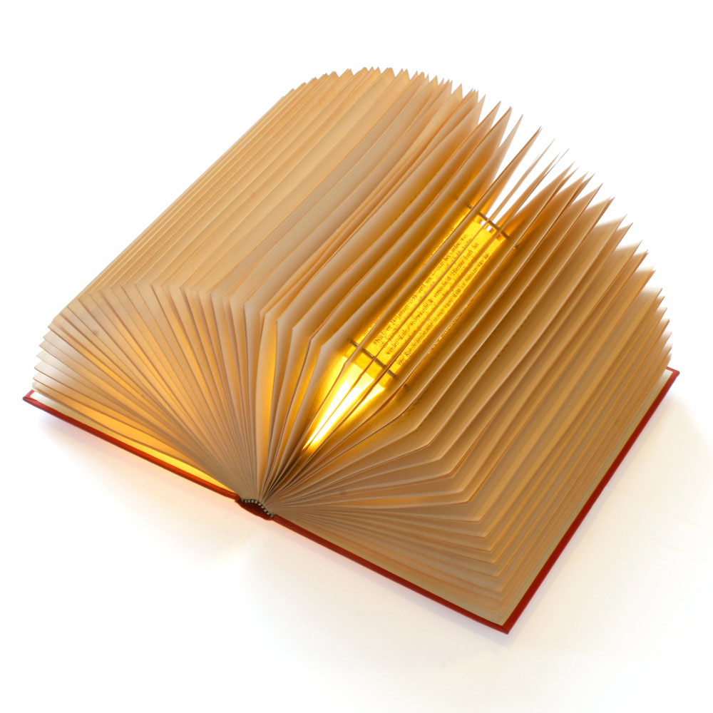 Luce book wall lamp recycle