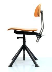 Industrial vintage plywood studio chair