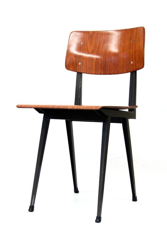 Industrial school chairs 60s vintage retro