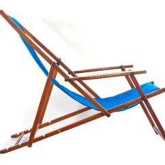 Antique Beach Chair Blue Slipcovers Midcentury Adjustable