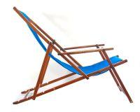 Blue midcentury antique adjustable beach chair