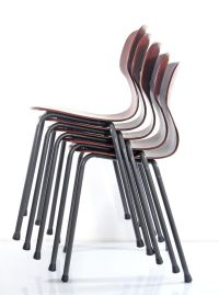 Sixties vintage wooden design chairs
