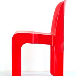 Red Childrens Desk Chair French Louis Chairs For Sale Joe Colombo 4867 Plastic Vintage Kartell