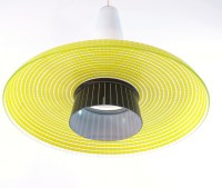 Glass yellow and black vintage design hanging lamp | Bom ...