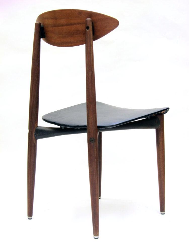 Sixties scandinavian wood and metal chair